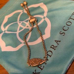 Kendra Scott Rose Gold Druzy Arrow Bracelet